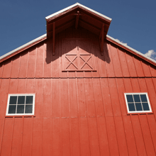 A Picture of a Barn House.