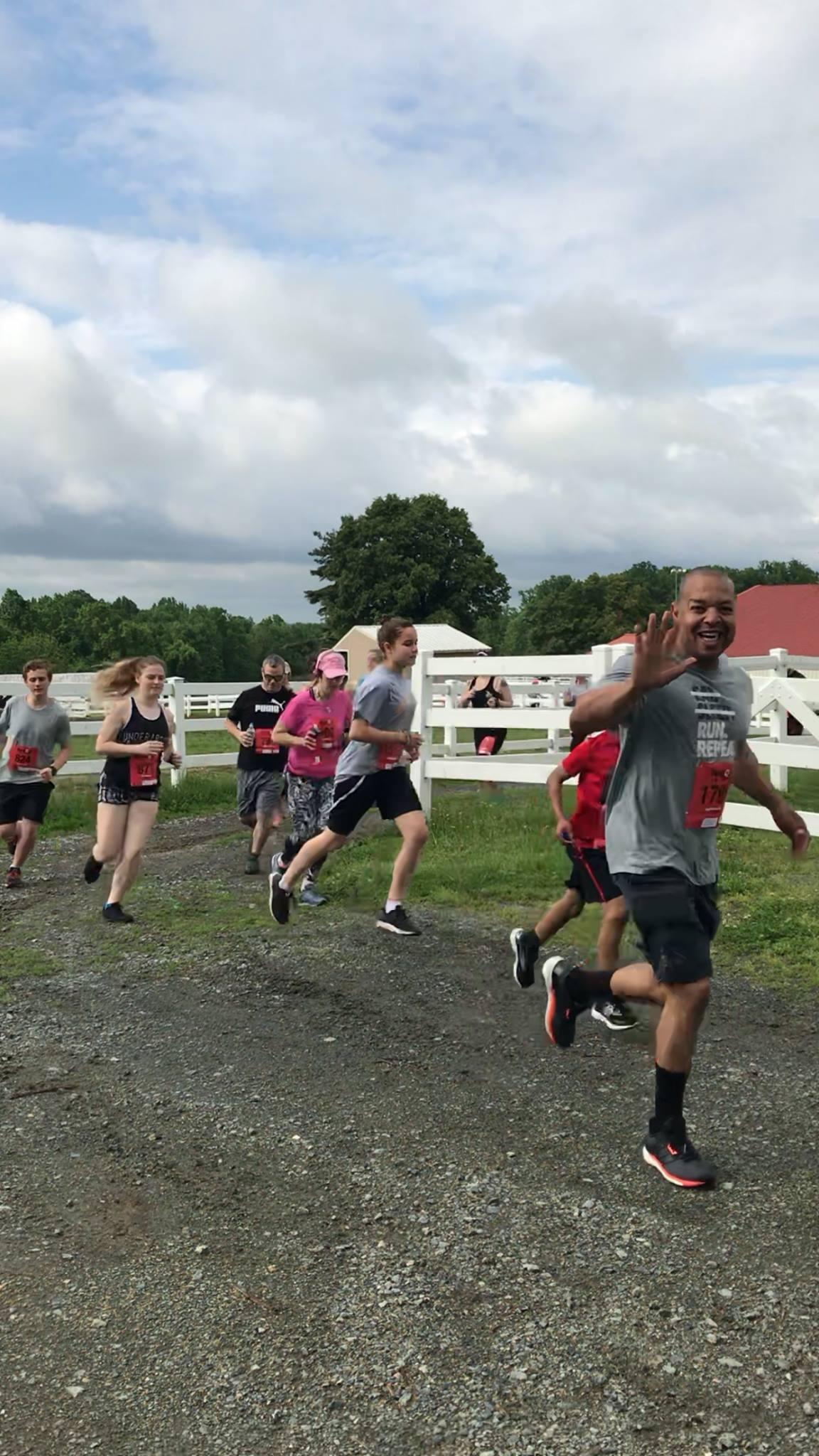 People Running in a New Castle County Race