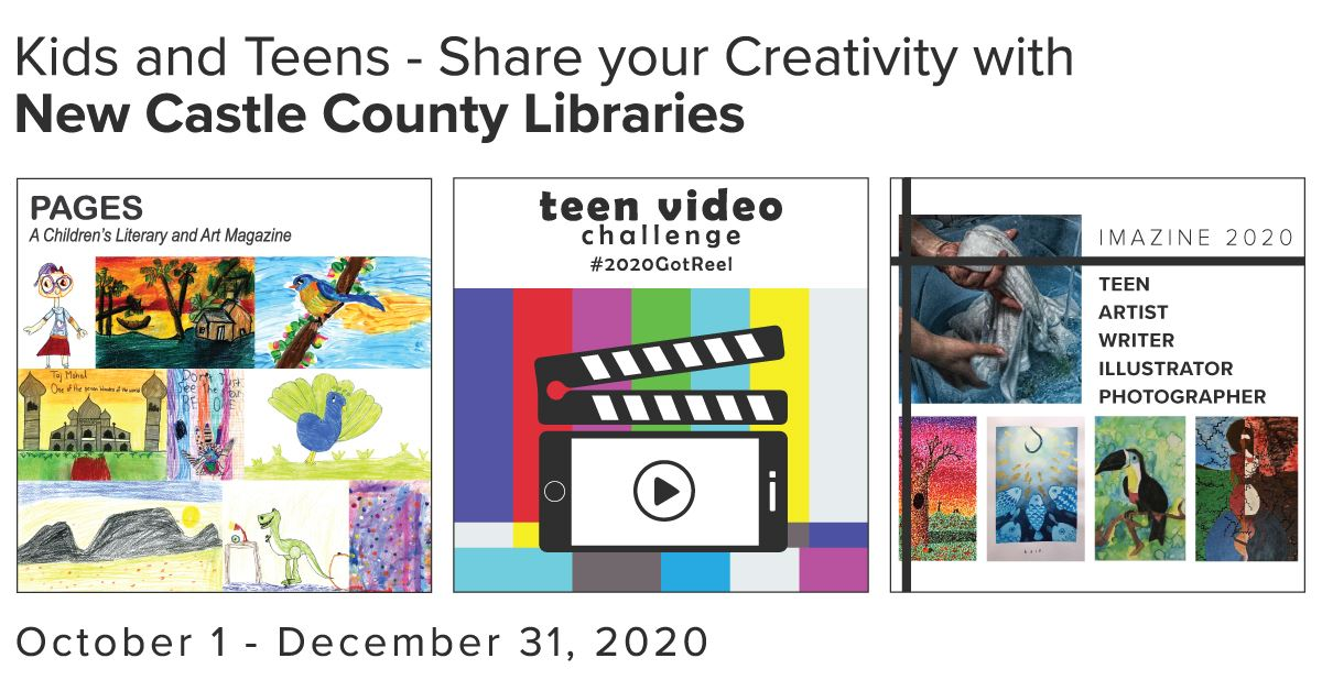 Banner advertising Pages, IMAZINE and the Teen Video Challenge. October 1 - December 31, 2020